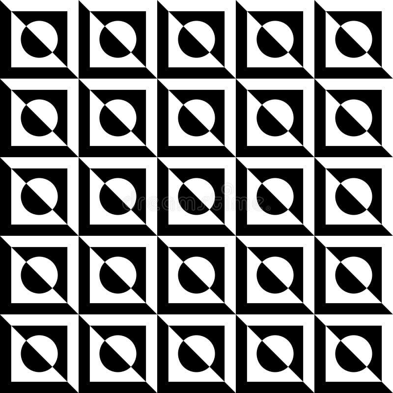 La texture de marbre Contrasty aiment les tuiles sans couture illustration de vecteur