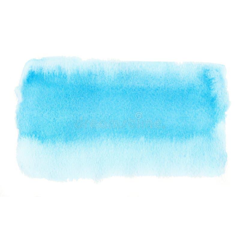La texture de papier tirée par la main d'aquarelle bleue violette a isolé autour de la tache sur le fond blanc Élément de concept images stock
