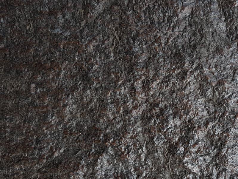 La texture de pierre de dessus de table et le fond noirs, surface de lustre images libres de droits