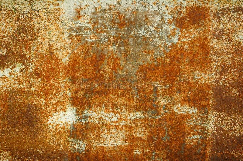 La texture de la surface métallique rouillée, se ferment vers le haut de la vue abr?gez le fond Fond pour la décoration intérieur photos libres de droits