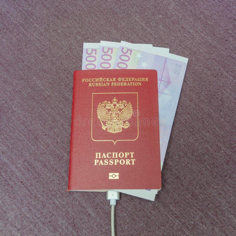 La texture de tissu est un passeport d'un citoyen du pays avec du Th photographie stock libre de droits