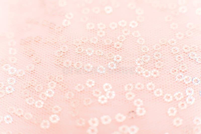 La texture de tissu de maille avec des paillettes donnent ? la maille une consistance rugueuse de tissu Plan rapproch? brillant r images libres de droits