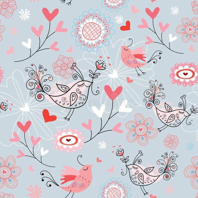 La texture des oiseaux d'amour illustration de vecteur