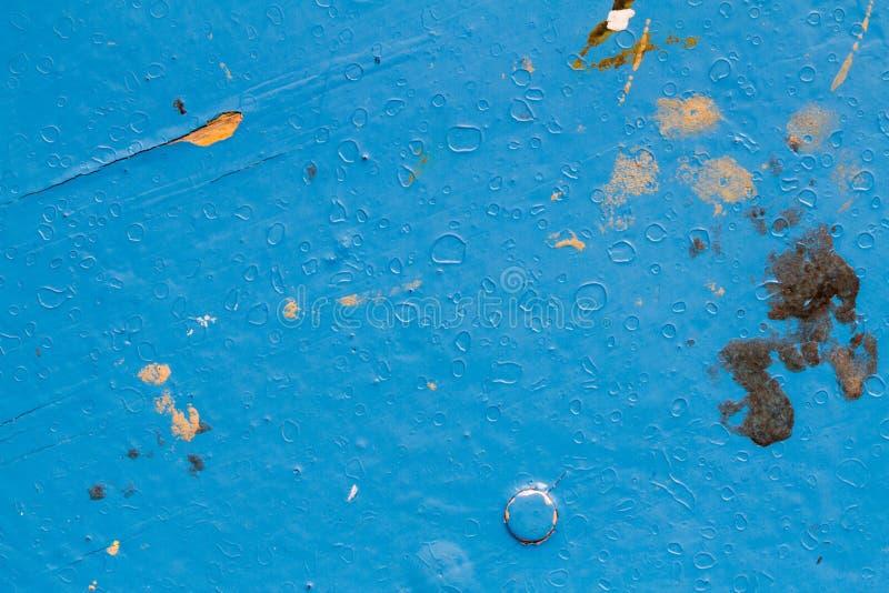 La texture du bleu a peint le bois dans la définition élevée photo libre de droits
