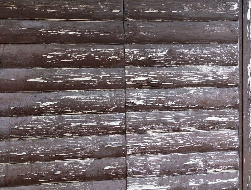La texture du conseil avec ?plucher la peinture Fond abstrait pour la conception Brown avec les conseils arrondis blancs Panneau  images stock