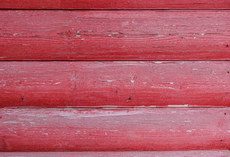 La texture du conseil avec ?plucher la peinture Fond abstrait pour la conception Conseils arrondis rouges Panneau de mur photographie stock libre de droits