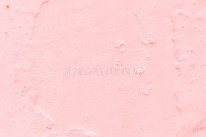 La texture du mur de ciment est rose, elle peut être employée comme fond et papier peint photo stock