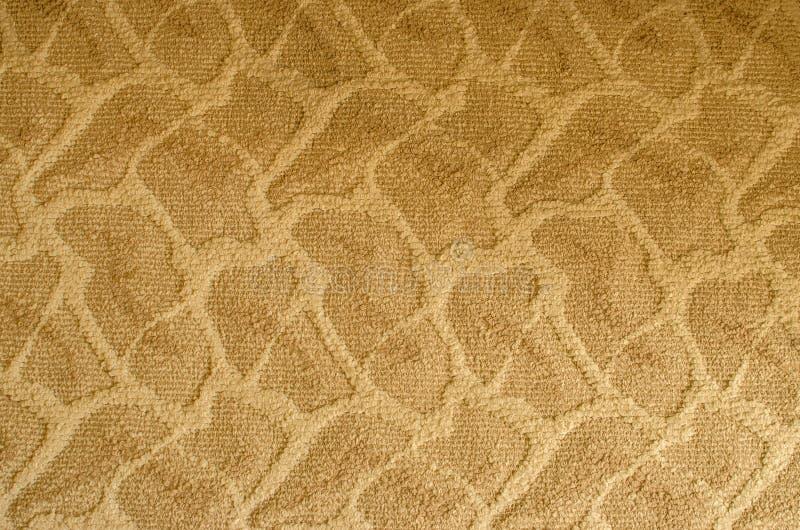 La texture du tapis sur le tigre modelé beige de plancher images libres de droits
