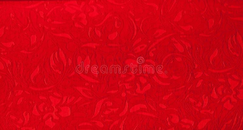 La texture du tissu en soie, rouge photo stock