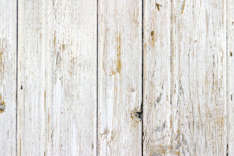 La texture en bois blanche avec le fond naturel de modèles photo libre de droits
