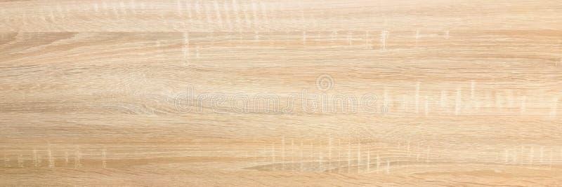 La texture en bois de fond, allument le chêne rustique superficiel par les agents peinture vernie en bois fanée montrant la textu photographie stock libre de droits