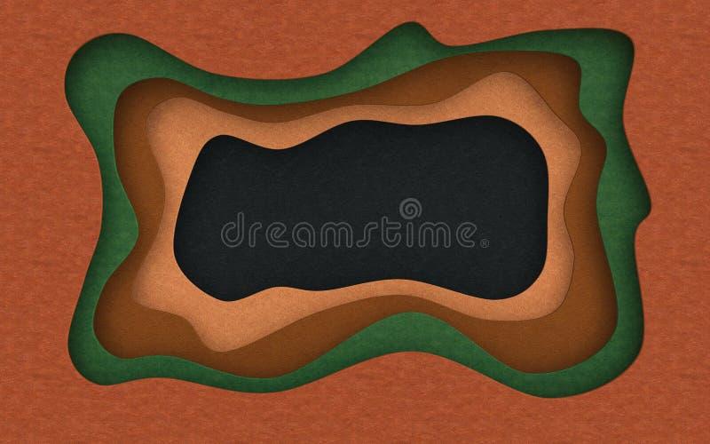 La texture en cuir a coupé le fond abstrait avec la coupe liquide d'écoulement illustration libre de droits