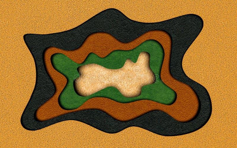 La texture en cuir a coupé le fond abstrait avec la coupe liquide d'écoulement illustration stock