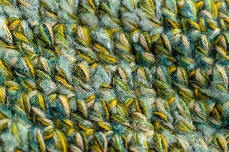 La texture faite du crochet ou tricotée se ferment  Fond de tissu photo stock