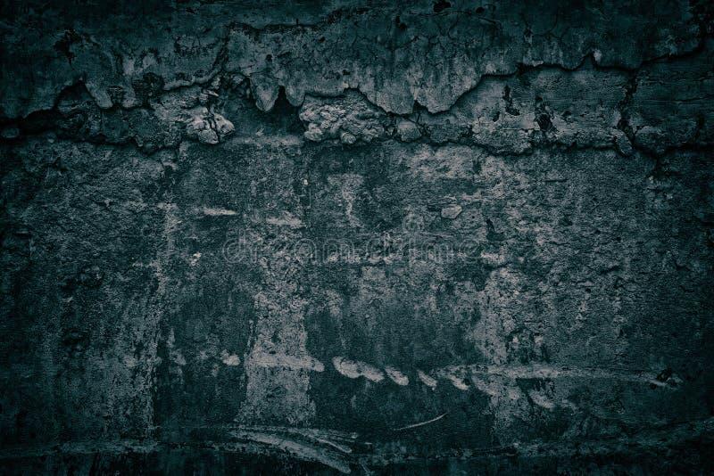 La texture grunge foncée du mur en béton avec le ciment durci s'égoutte image libre de droits