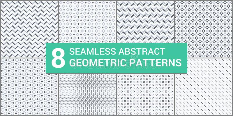 La texture minimale géométrique sans couture de fond de modèle d'abrégé sur vecteur a placé 1 illustration de vecteur