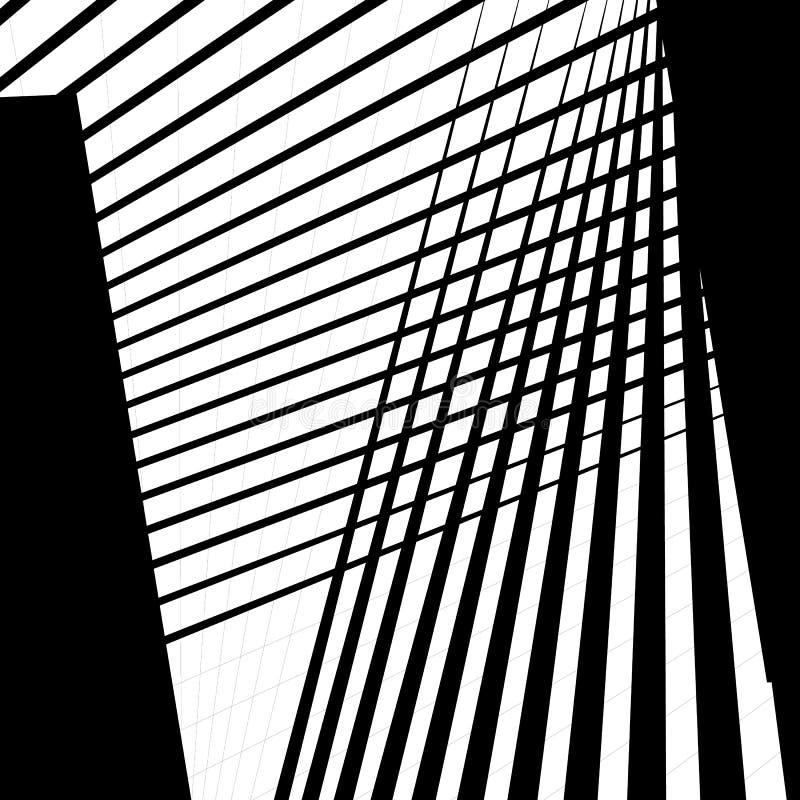 La texture monochrome, modèle monochrome avec des formes aléatoires raye illustration de vecteur
