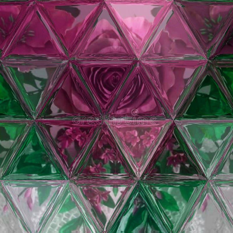 La texture multicolore foncée profonde polygonale dans la sarcelle d'hiver, vin, brun, vert, a ombragé des couleurs impeccables d photographie stock