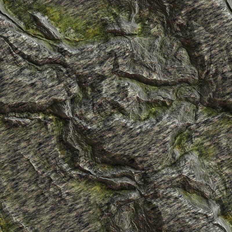 La texture sans joint d'un lichen a couvert la roche illustration de vecteur