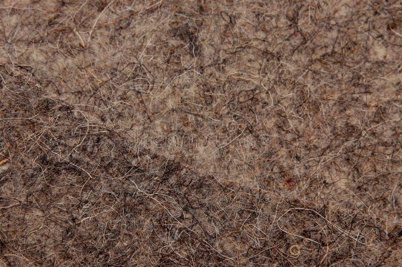 La texture a senti le brun avec un recouvrement sur l'autre texture semblable images stock