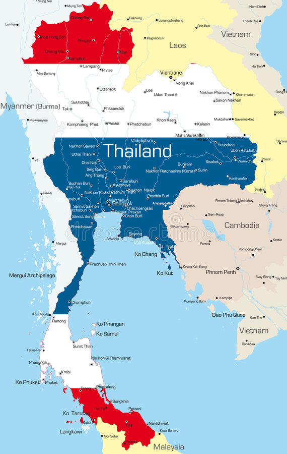 La Thaïlande illustration de vecteur