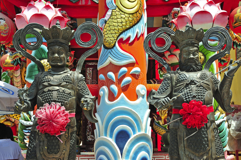 La Thaïlande Ayutthaya Wat Phanan Choeng images libres de droits