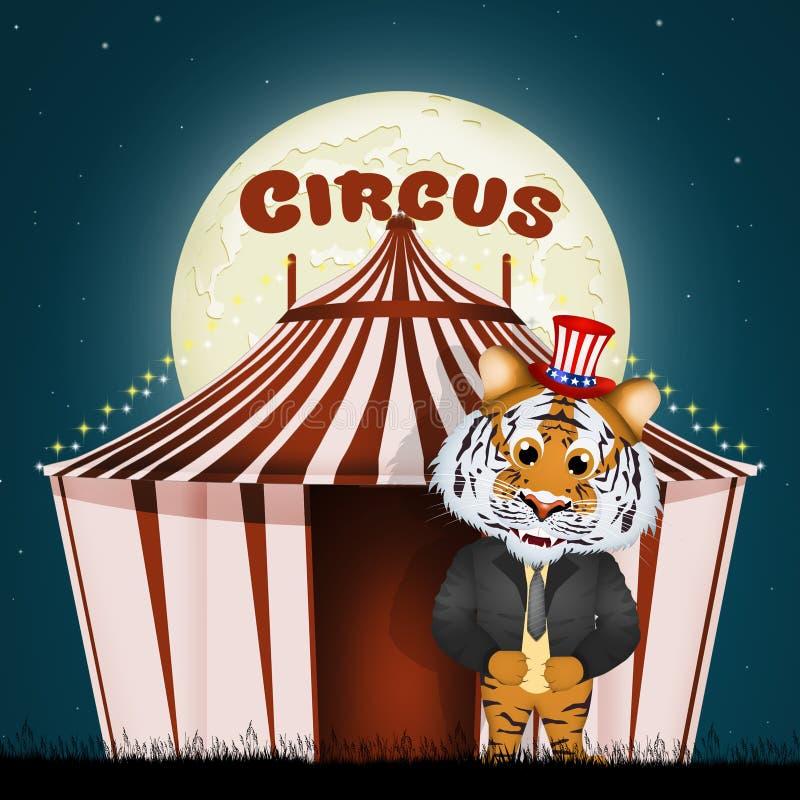 La tienda de circo libre illustration