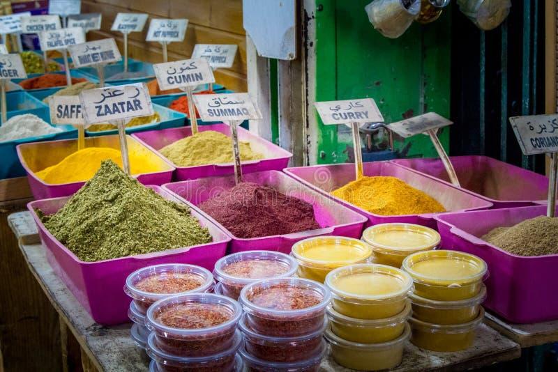 La tienda de la especia, mercado en la ciudad vieja de Jerusalén foto de archivo