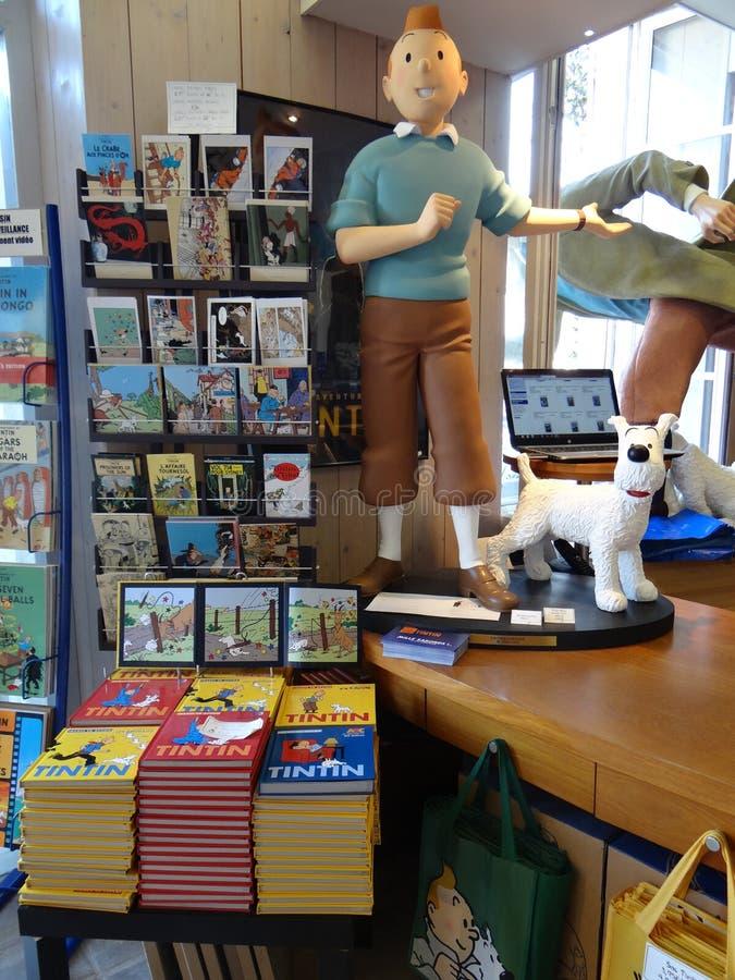 La tienda de Tintin fotos de archivo libres de regalías