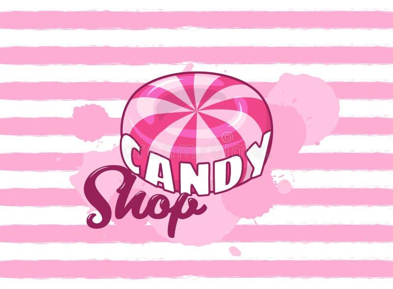 La tienda del caramelo stock de ilustración