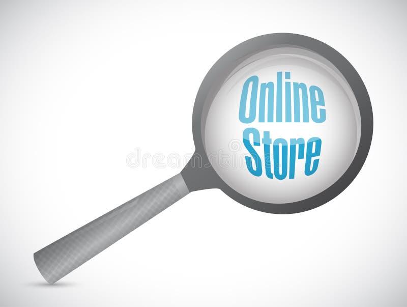 la tienda en línea magnifica el ejemplo del concepto libre illustration
