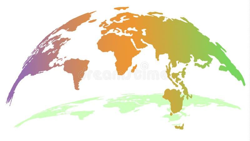 La tierra cambia su humor ejemplo del mapa del globo 3D libre illustration
