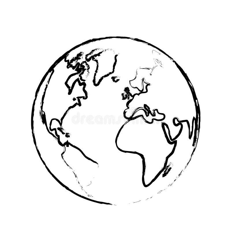 La tierra con sus diversos continentes y países libre illustration