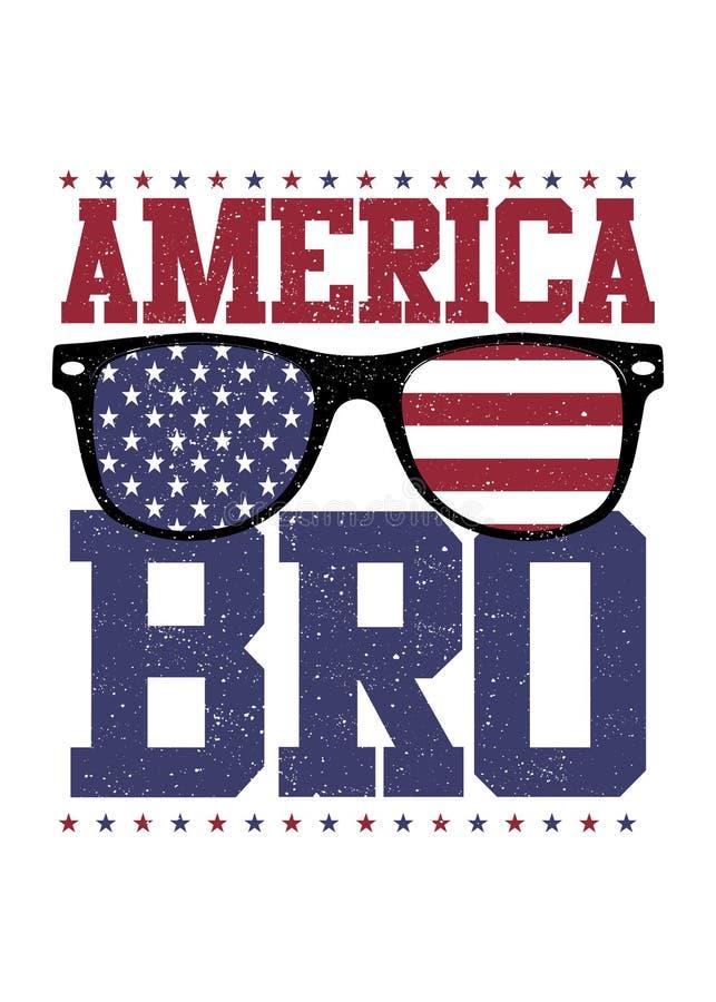 La tierra de los vidrios del bro de América de la libertad el 4 de julio apenó independencia libre illustration