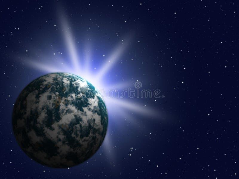 La tierra del planeta stock de ilustración
