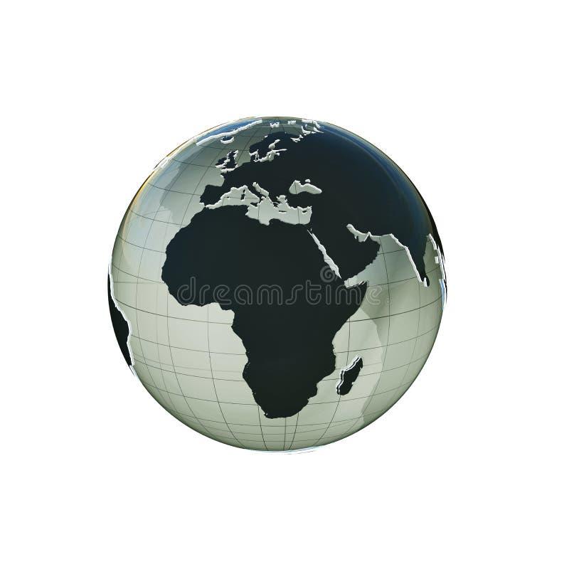 La tierra del planeta sacó stock de ilustración