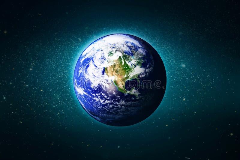 La tierra en la galaxia, elementos de esta imagen suministró por la NAS stock de ilustración