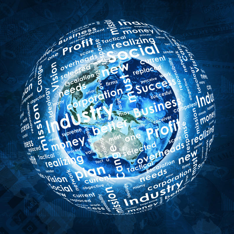 Download La Tierra, Esfera Consiste Las Palabras Del Negocio Y Los Gráficos Stock de ilustración - Ilustración de extracto, crisis: 42425482
