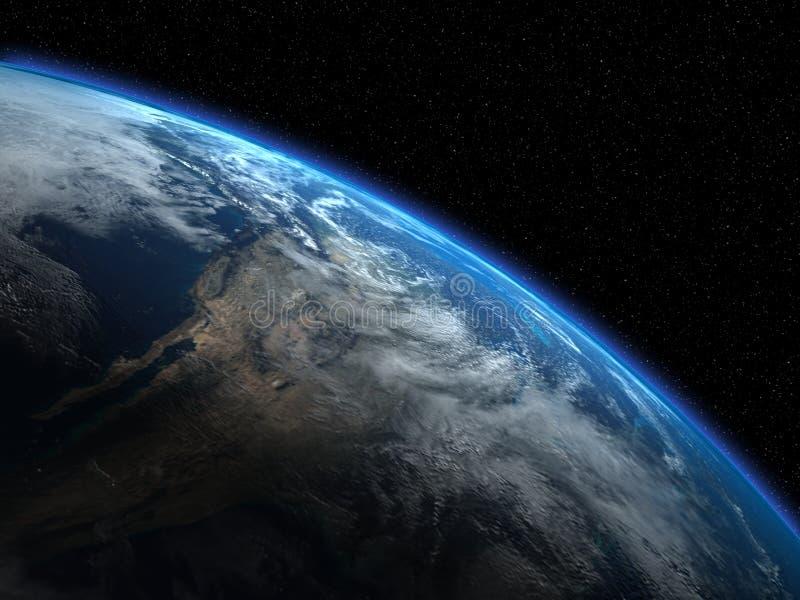 La tierra hermosa del planeta ilustración del vector