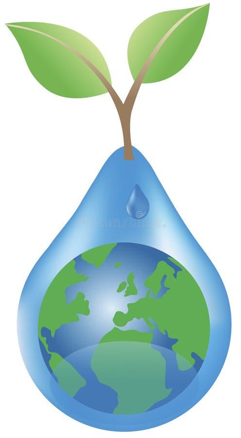 La tierra y el waterdrop libre illustration
