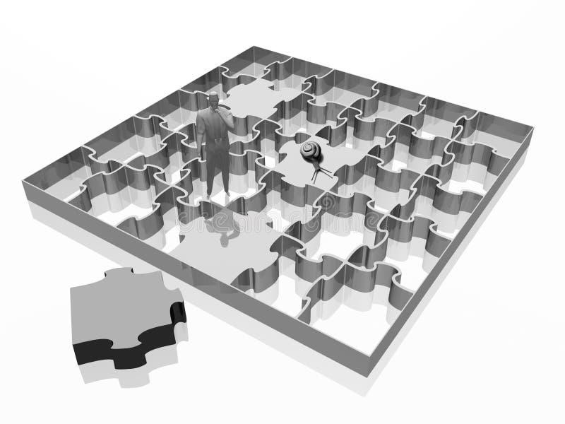 La tige manquante, puzzle denteux. illustration de vecteur