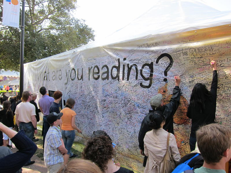 LA Times Festival of Books 11 stock image