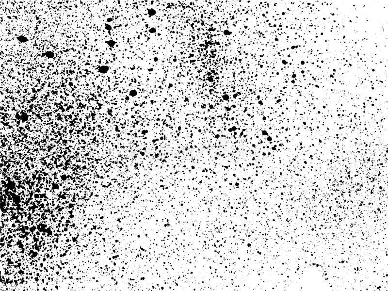 La tinta salpica textura del grunge ilustración del vector