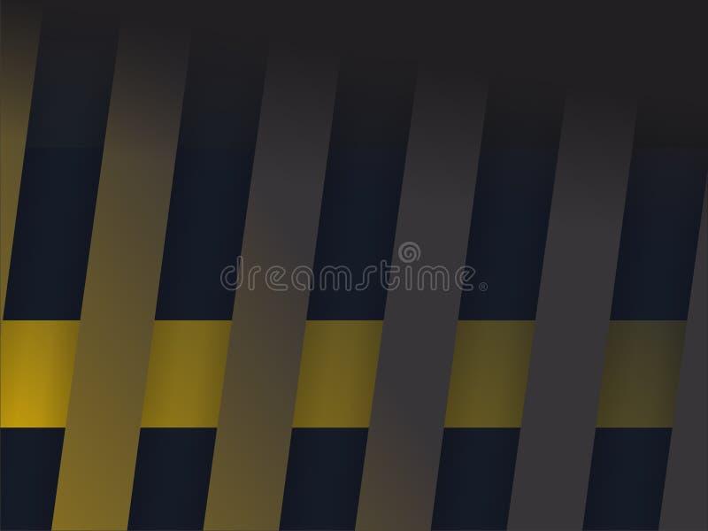 La tira amarilla oscura en negro fotografía de archivo