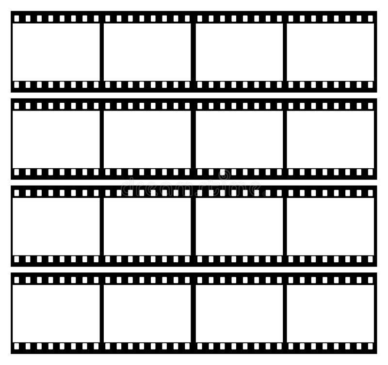 la tira de la película enmarca el marco stock de ilustración