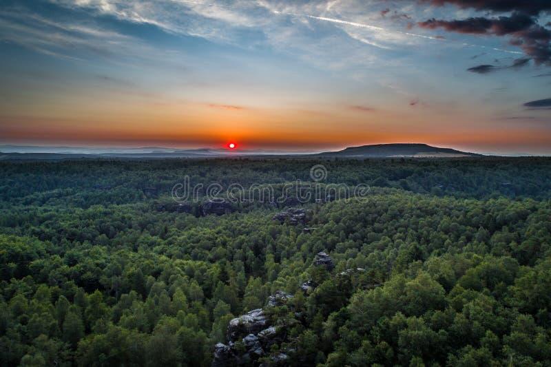 La Tisa Rocks in Boemia Svizzera nella regione del Decin nella Repubblica Ceca fotografia stock