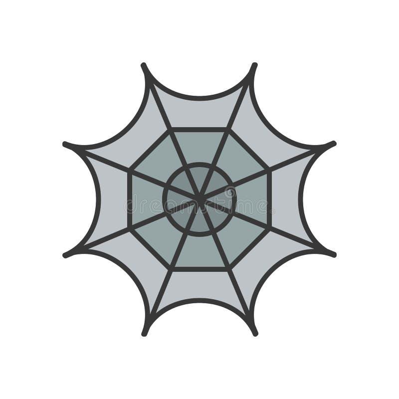 La toile d'araignée, Halloween a rapporté l'icône, a rempli editab de conception d'ensemble illustration libre de droits