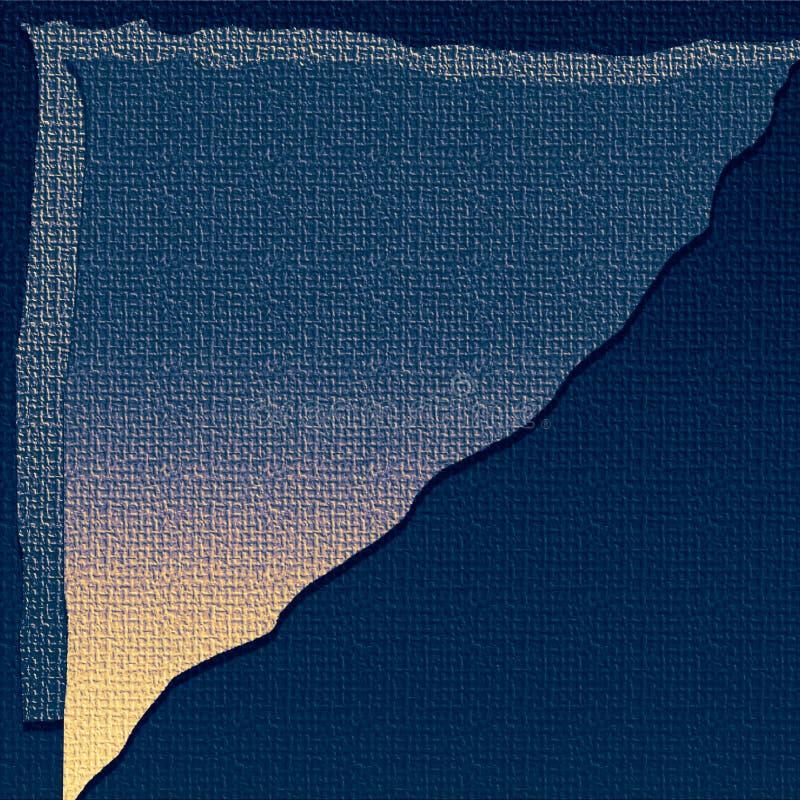 La toile a donn? au papier une consistance rugueuse num?rique Feuille posée affligée Texture de toile de jute Papier de ouvrage d illustration stock
