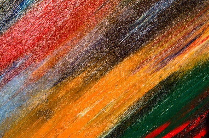 La toile est couverte de peinture d'aquarelle photo libre de droits