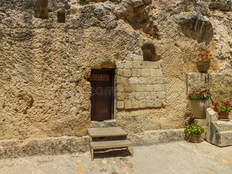 La tomba del giardino, tomba della roccia a Gerusalemme, Israele immagine stock